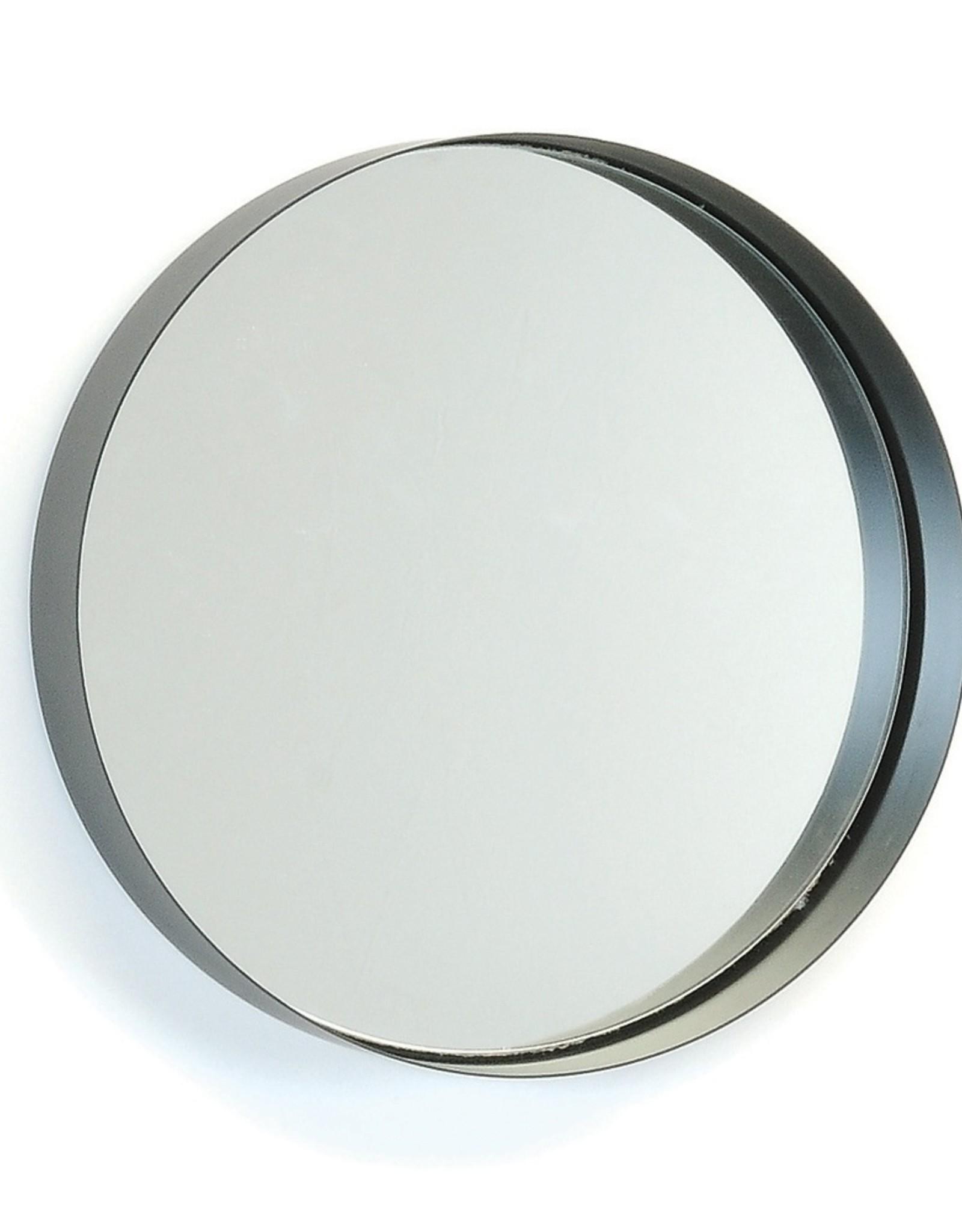 Miroir en métal noir large