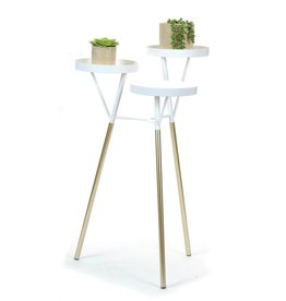 3 Tier Plant Stand white/gold