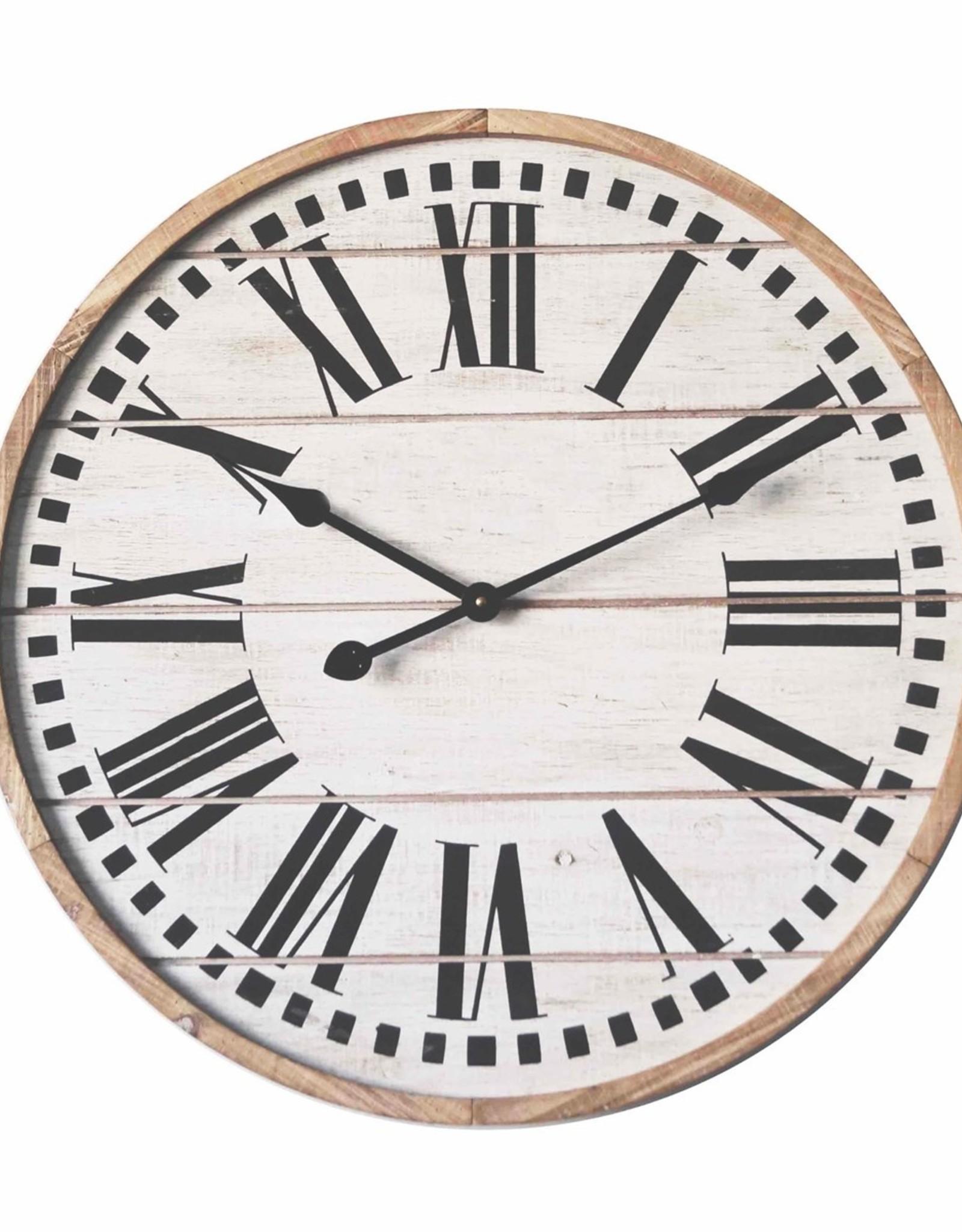 Horloge en bois 12''