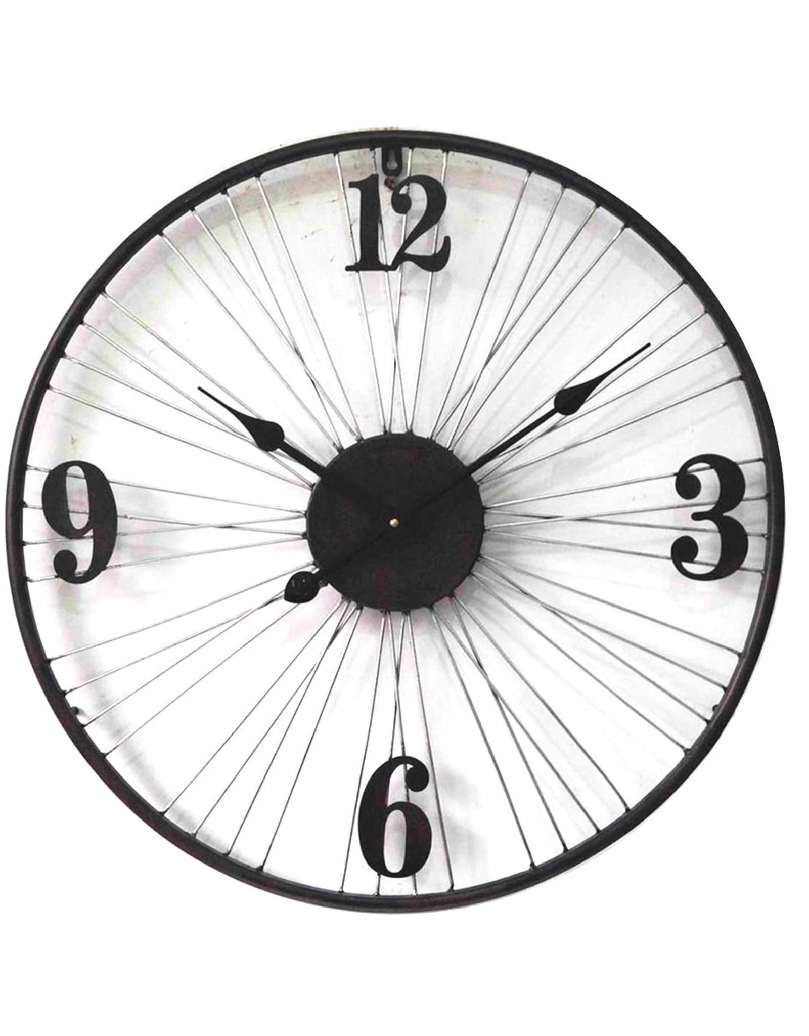 """Metal Clock 24"""""""