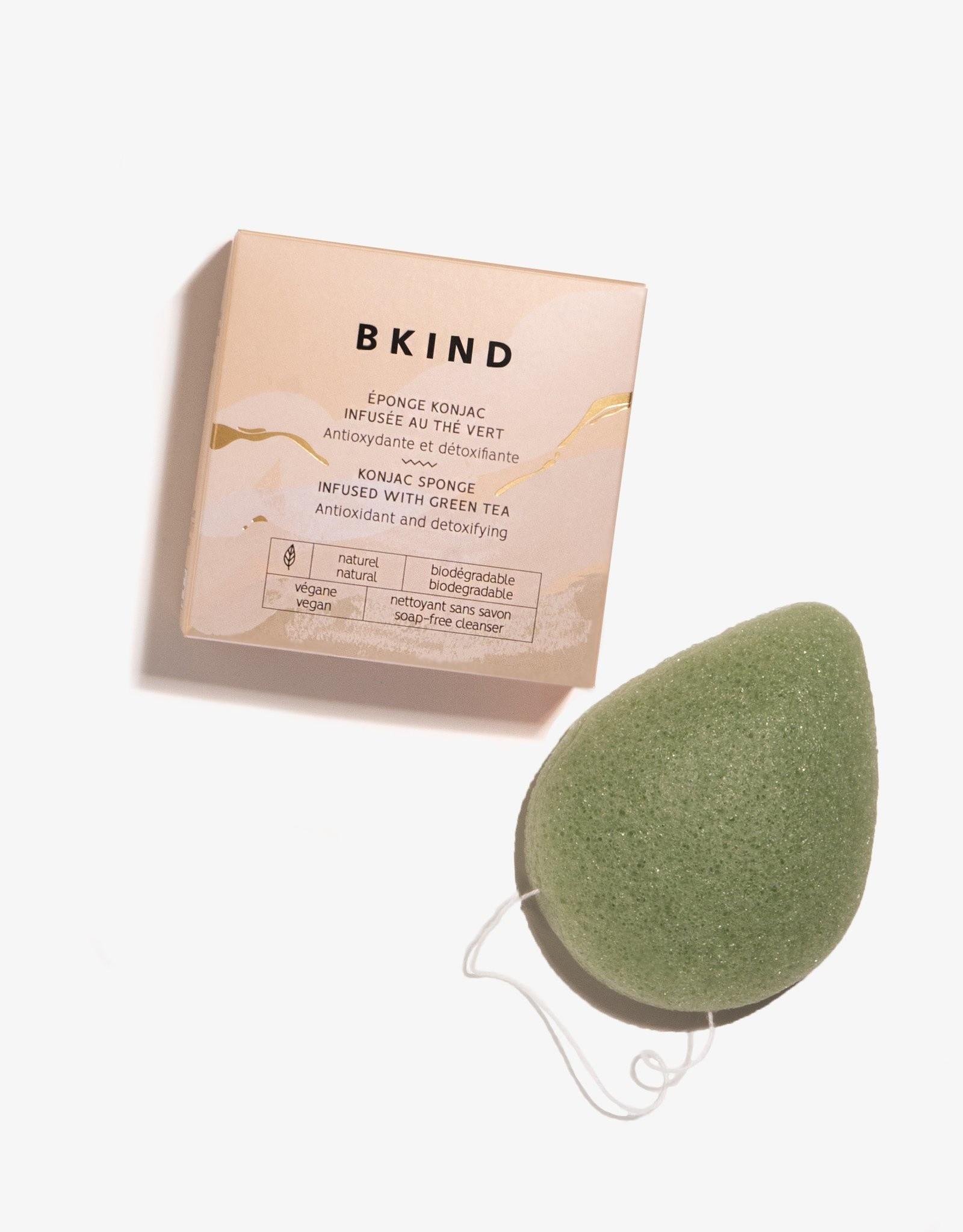 Konjac Facial Sponge infuses with green tea