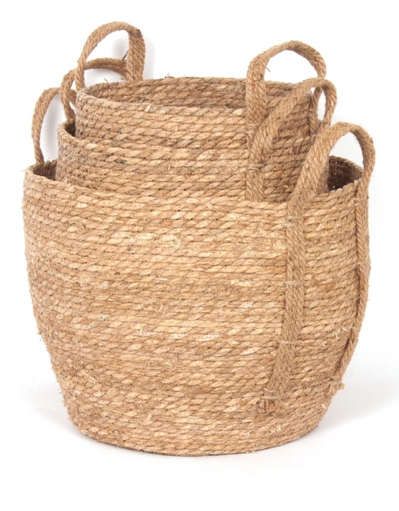 Natural Straw Basket (small)