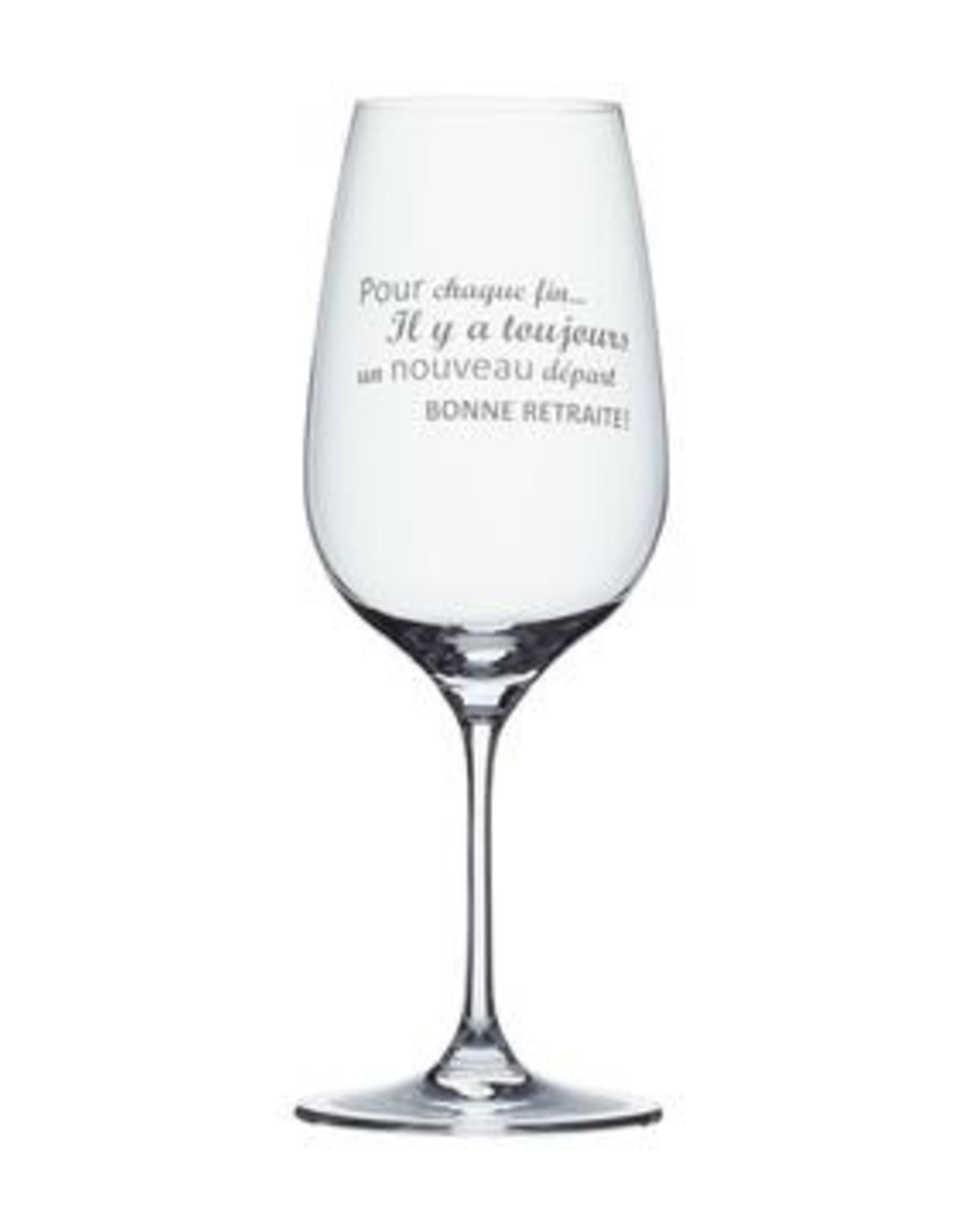 Verre à vin Pour chaque fin