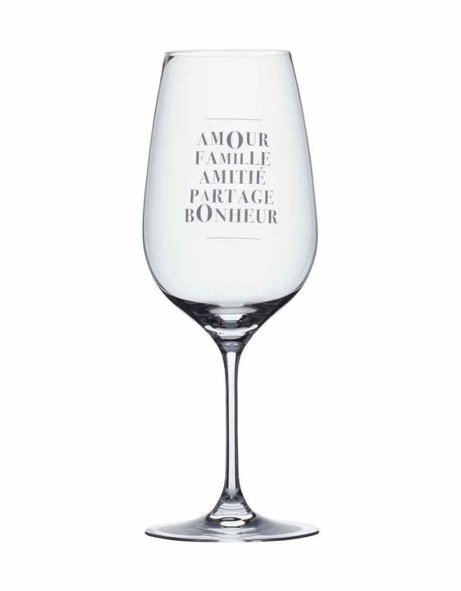 Wine Glasses Amour Famille Amitié