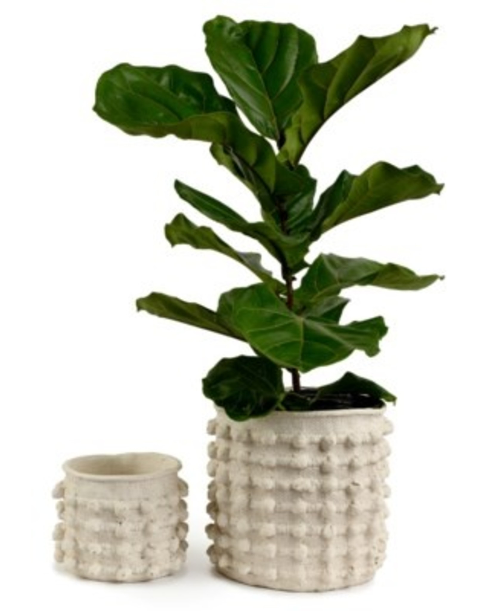 Hobnail Cement Pot (small)