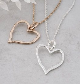 Giving Heart Necklace-silver
