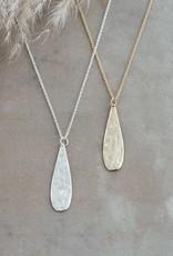 Teardrop Necklace-silver