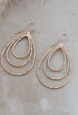 Boucles d'oreilles Divergence-or