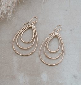 Divergence Earrings-gold