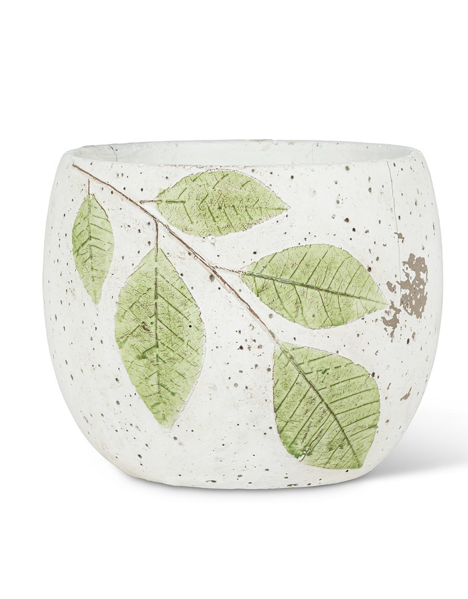 Round Green Leaf Planter 6.5''