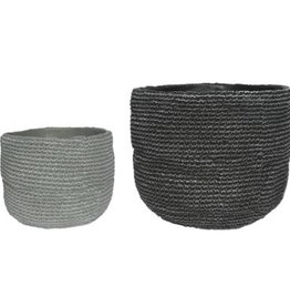Grey Woven Cement Pot (small)