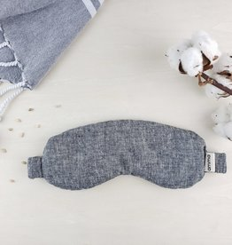 Masque thérapeutique  à la lavande-chanvre et coton bio gris