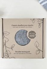 Coussin chauffant pour épaules-chanvre et cotton bio gris