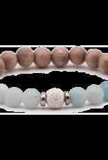 Amazonite & Rosewood Bracelet