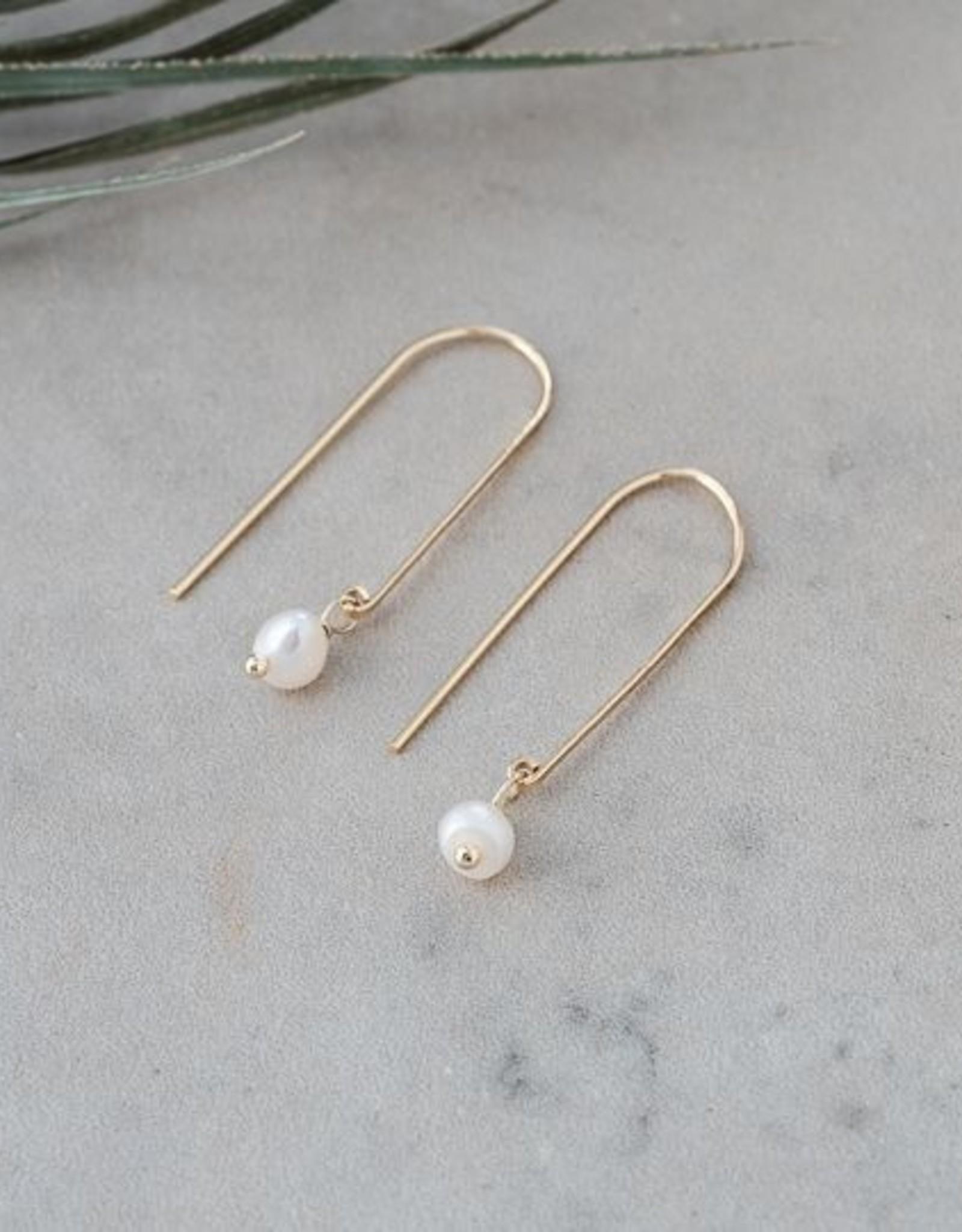 Lore Earrings-gold/fresh water pearl