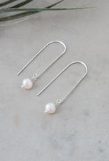 Boucles d'oreilles Lore-argent/perle d'eau douce