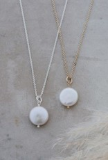 Liv Necklace-silver/fresh water pearl