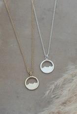 Diamond Head Necklace-silver