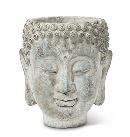 Buddha Head Planter 7''H