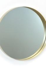 Miroir en métal or large