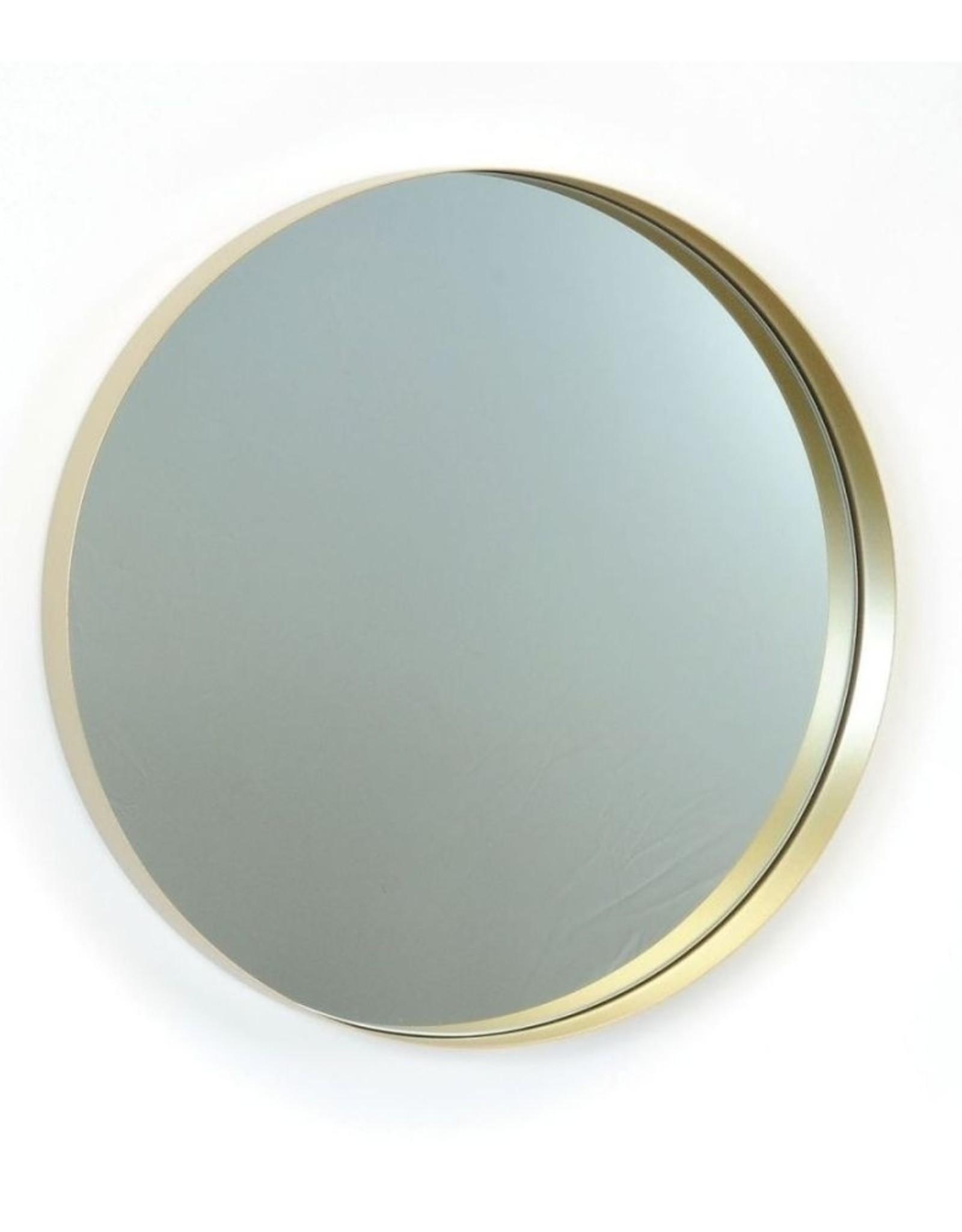 Miroir en métal or petit