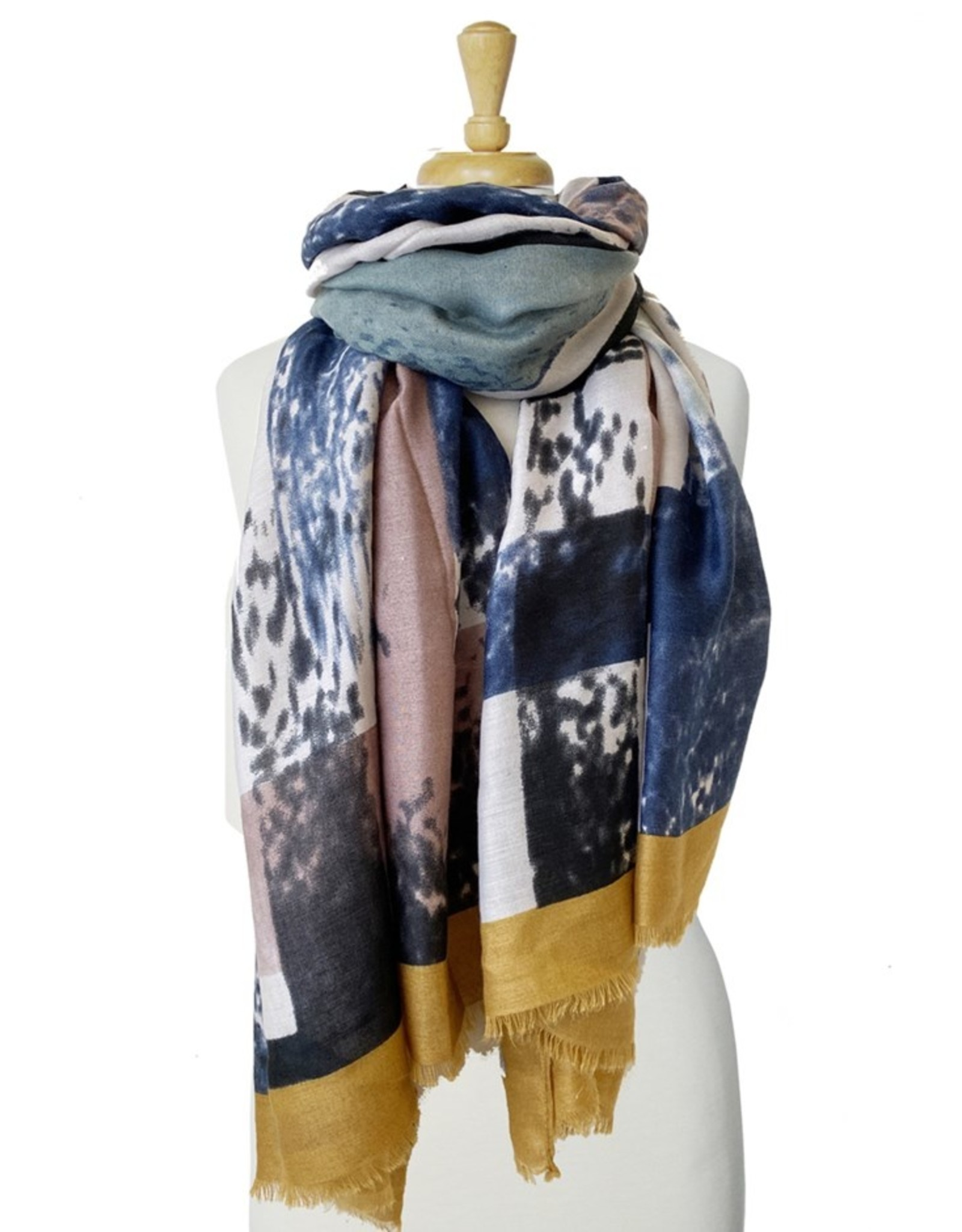 Scarf with checks-yellow