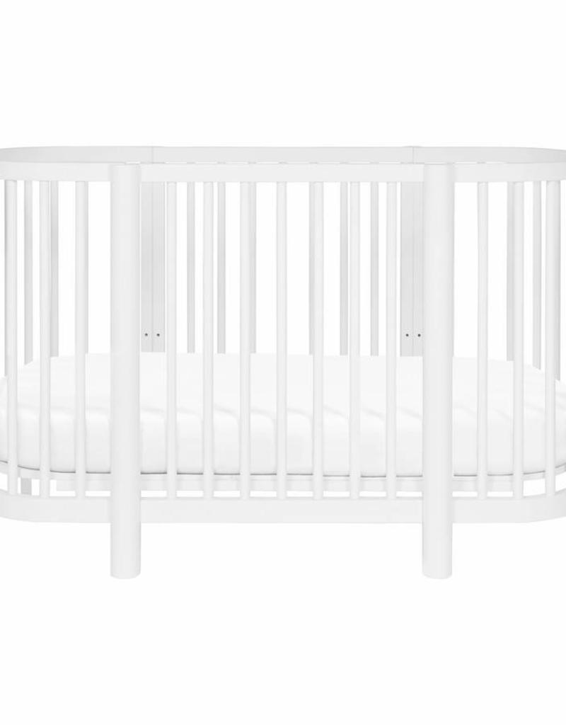 Babyletto Hula Convertible Oval Crib and mini W/ Mini Pad