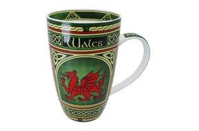 Mug: Welsh Dragon Celtic Window