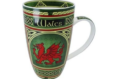 Mug: Welsh Dragon Celtic Window