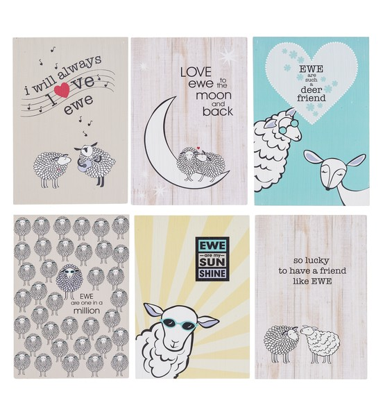 Ganz Plaque: Print Desk Ewe and Me