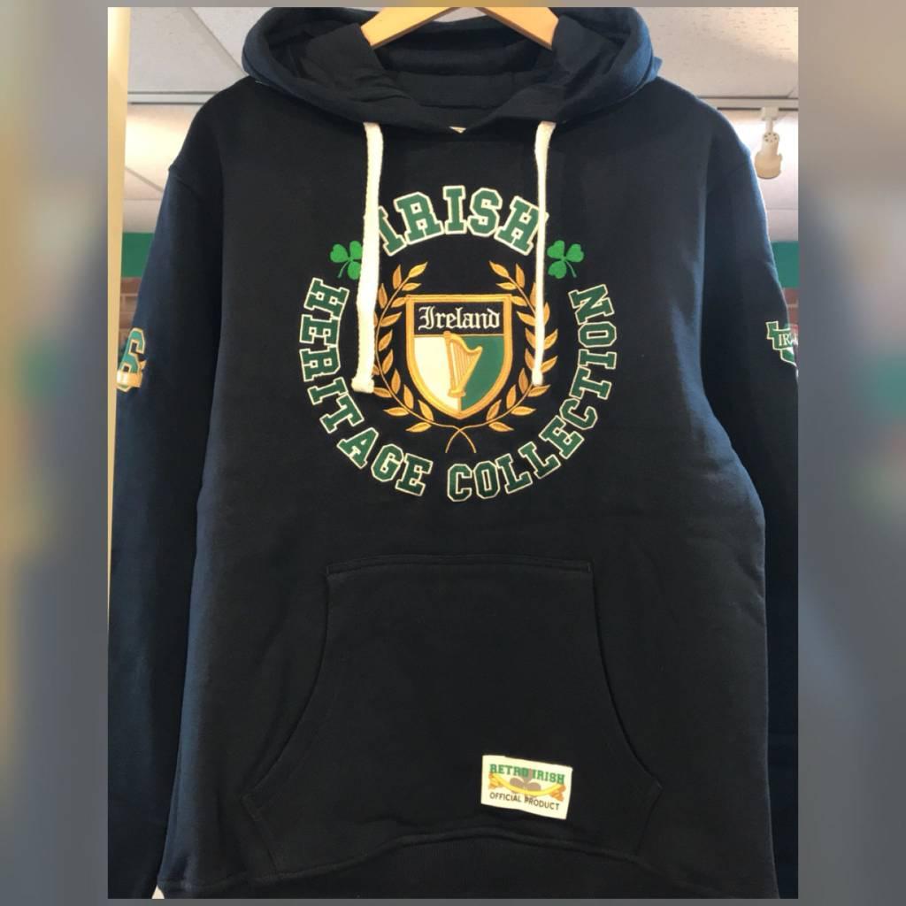 Retro Irish Hoodie: Irish Heritage Collection