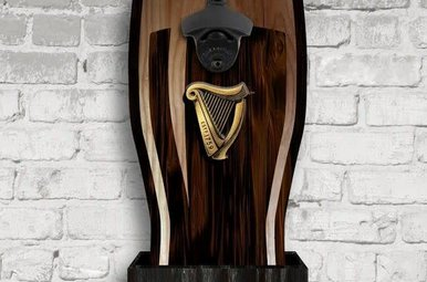 Guinness: Wall Mount Harp Bottle Opener