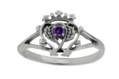 Ring: SS Luckenbooth Amethyst