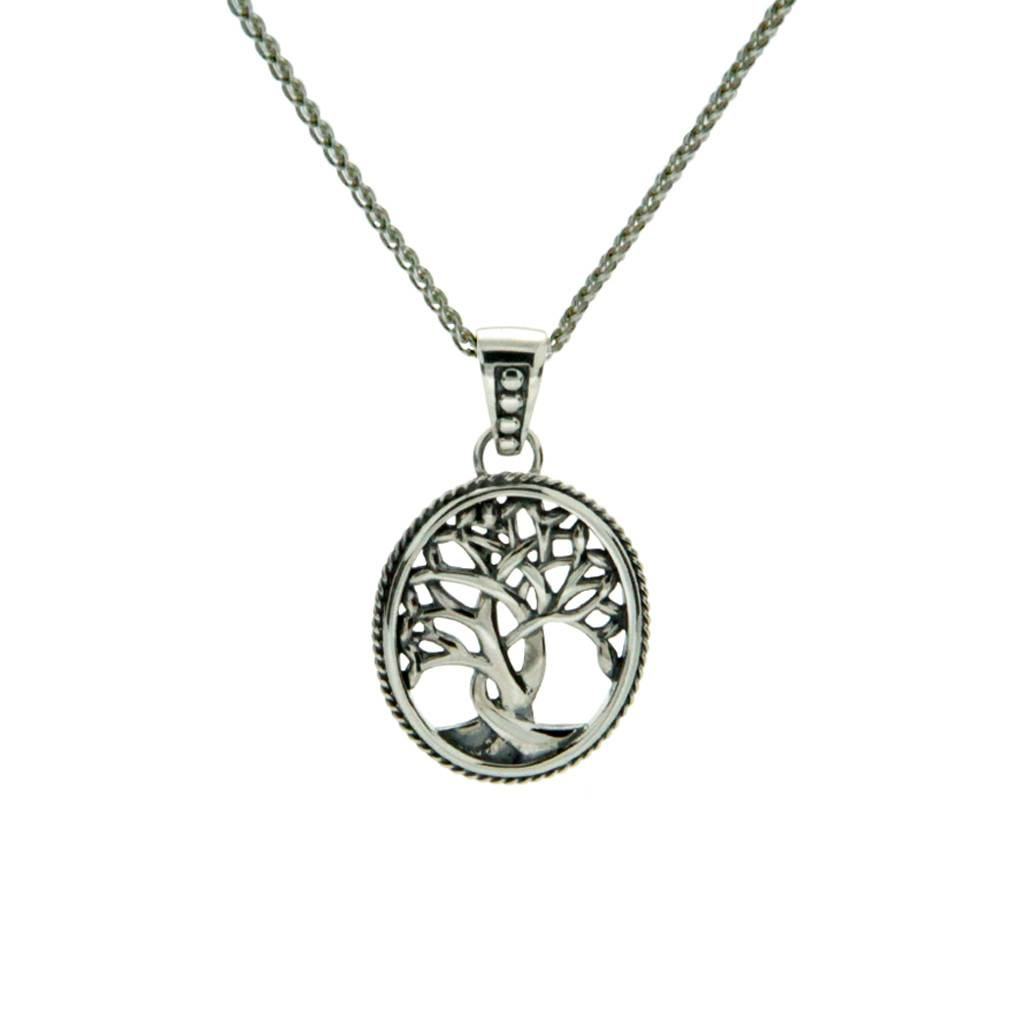 Keith Jack Pendant: Sterling Tree of Life, Small