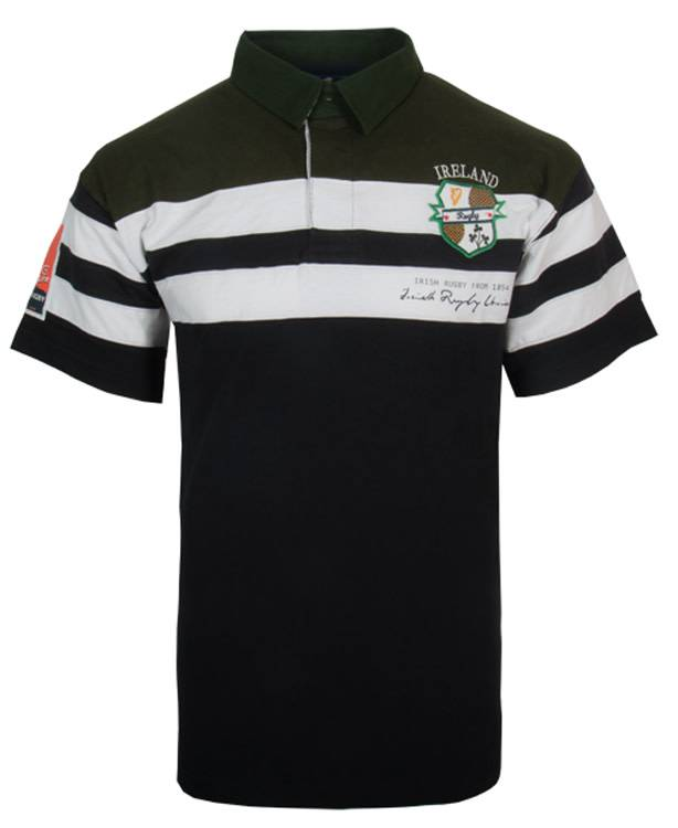 Shirt: Short Slv Ireland Crest Navy