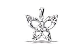 Pendant: SS Butterfly with Trinity