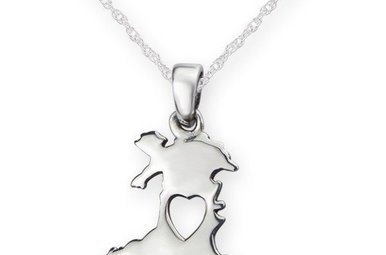 Pendant: Silver Heart Of Wales