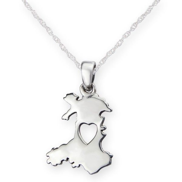 H & Y Pendant: Silver Heart Of Wales