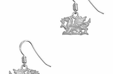 Earrings: Welsh Dragon Drop