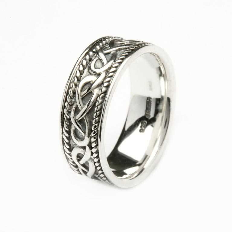 Shanore Ring: SS Celtic Heavy Ring
