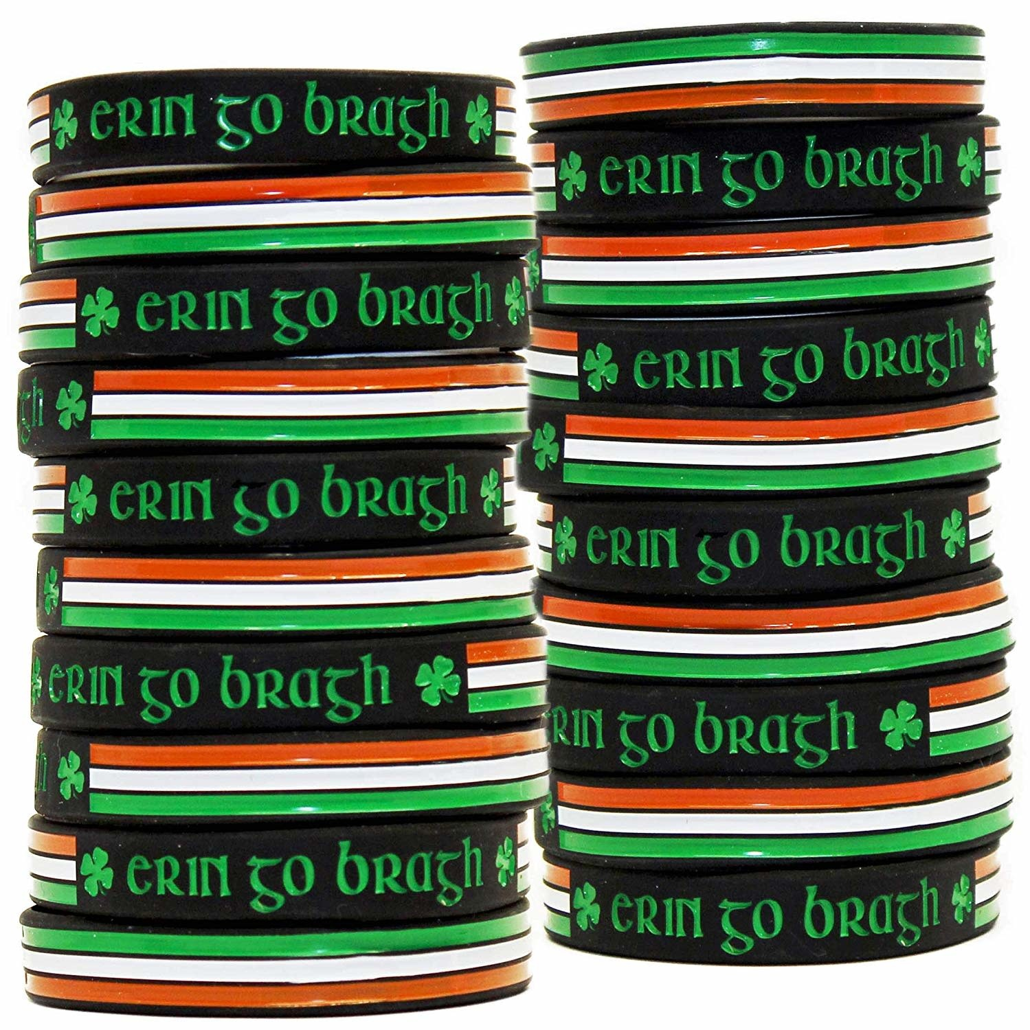 Celtic Bracelet: Erin-Go-Bragh Rubber