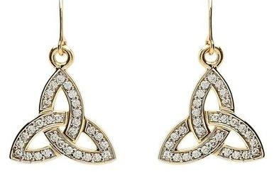 Earrings: 10k Gold CZ Trinity