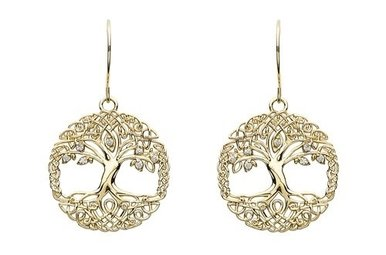 Earrings: 10k CZ Tree of Life