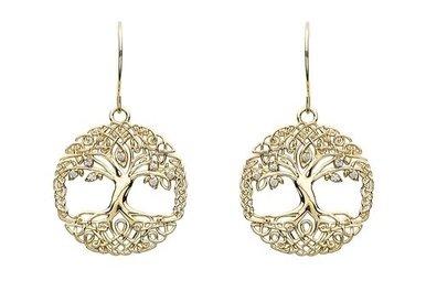 Earrings: 10k CZ Tree of Life