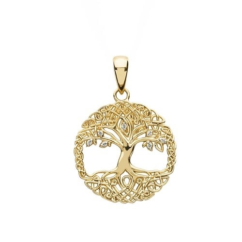 Shanore Pendant: 10k CZ Tree of LIfe