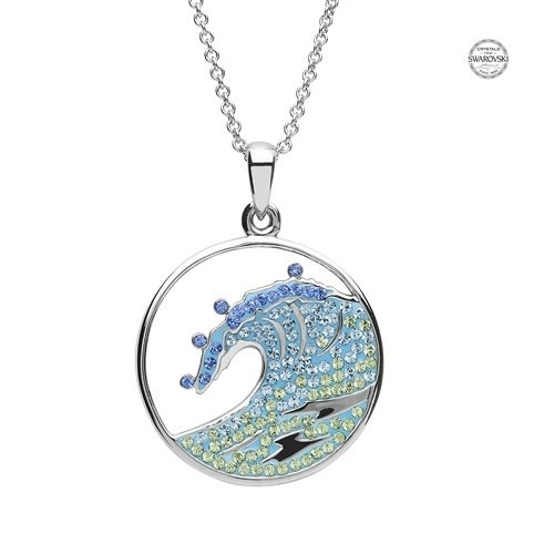 Shanore Pendant: SS Blue Wave Crystal
