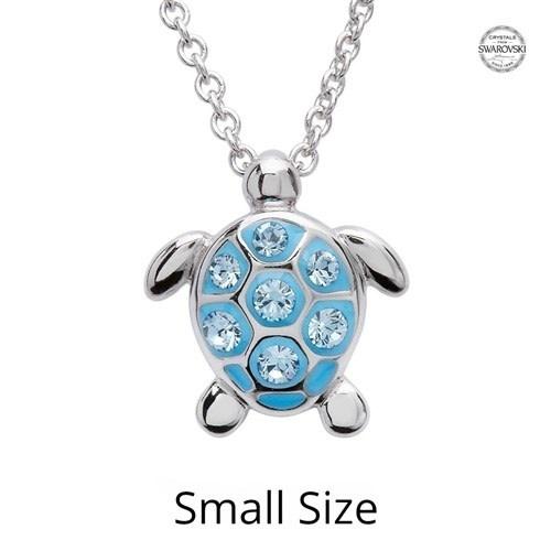 Shanore Pendant: SS Small Aqua SW Crystal Turtle