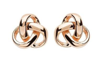 Earrings: SS Rose Gld Trinity Stud