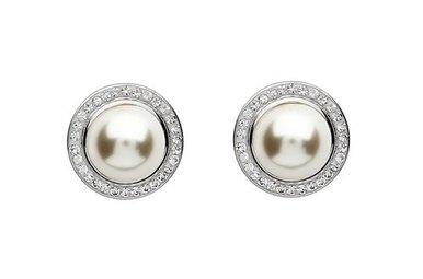 Earrings: SS Swarovski Pearl