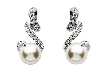 Earrings: SS Swarovski Pearl Stud